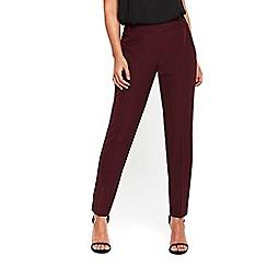Wallis - Berry button high waist trousers