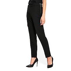 Wallis - Black side zip tapered trousers