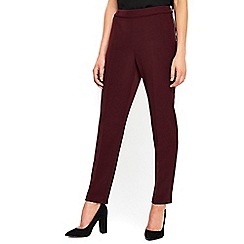 Wallis - Berry side zip tapered trousers
