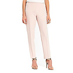 Wallis - Blush side zip tapered trousers