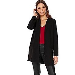 Wallis - Black scuba longline jacket