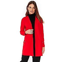 Wallis - Red scuba longline jacket