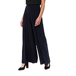 Wallis - Navy soft wide leg trouser