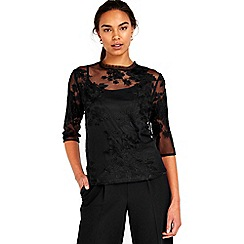 Wallis - Black lace top