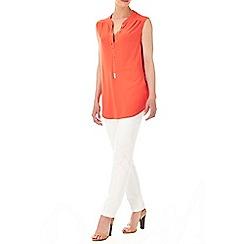 Wallis - Orange chain detail shirt