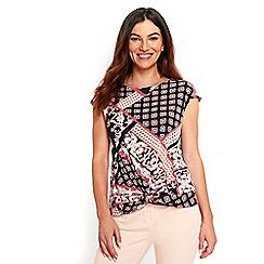 Wallis - Multicoloured paisley print twist front top