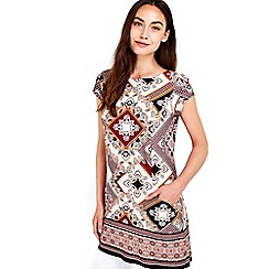 Wallis - Diamond print tunic top