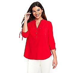 Wallis - Red jersey drawstring shirt