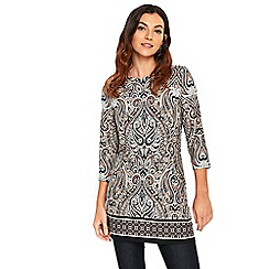 Wallis - Stone paisley top