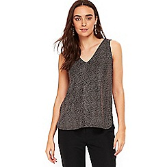 Wallis - Metallic bronze camisole top
