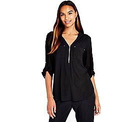 Wallis - Black plain shirt