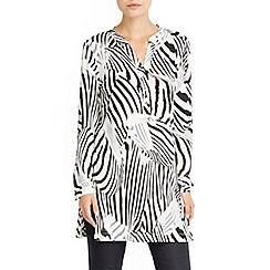 Wallis - Animal print longline shirt
