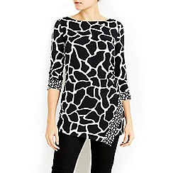 Wallis - Animal print rouche side top