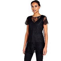 Wallis - Black lace tunic