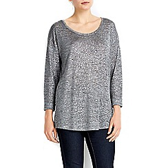 Wallis - Siilver glitter top