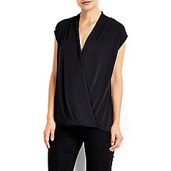 Wallis - Black wrap top