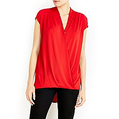 Wallis - Red wrap top
