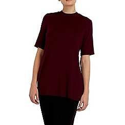 Wallis - Berry high neck swing top