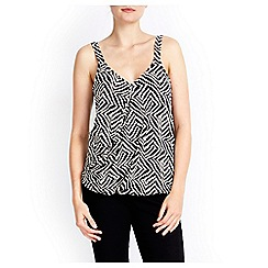 Wallis - Geo animal wrap cami top