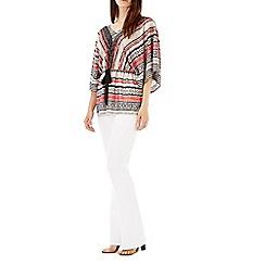 Wallis - Black & red stripe print kimono