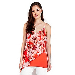 Wallis - Ornage floral printed camisole top
