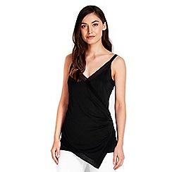 Wallis - Black rouched vest top
