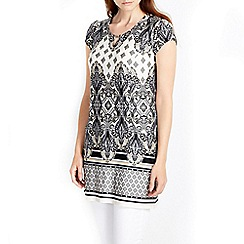 Wallis - Neutral paisley printed tunic