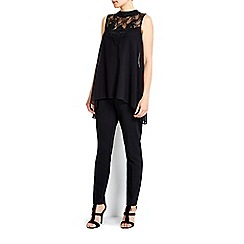 Wallis - Sleeveless high neck embellished top