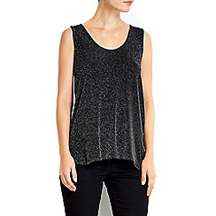 Wallis - Black sparkle vest