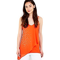Wallis - Orange embellished camisole top