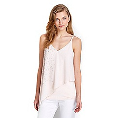 Wallis - Blush embellished camisole top