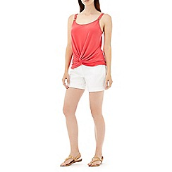 Wallis - Coral pink twist front cami