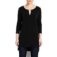 Wallis - Black chain collar tunic  top