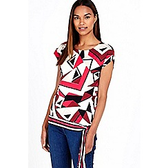 Wallis - Geo stripe tie side top