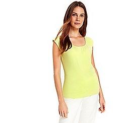 Wallis - Lime green cotton bardot top