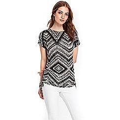 Wallis - Geometric knitted jersey top