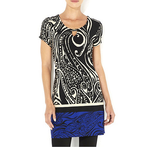 Wallis - Blue printed tunic