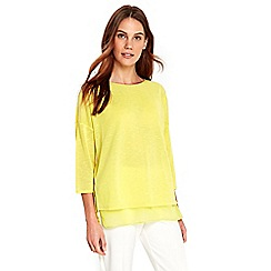 Wallis - Lime knitted double layer top