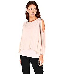 Wallis - Blush heavy embellished overlay