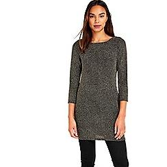 Wallis - Black sparkle tunic top