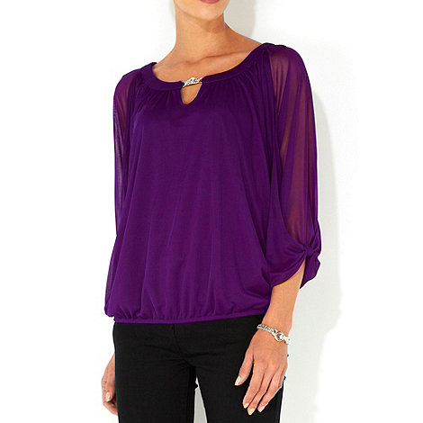 Wallis - Purple diamante top