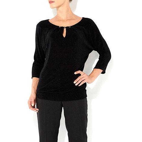 Wallis - Black sparkle blouse