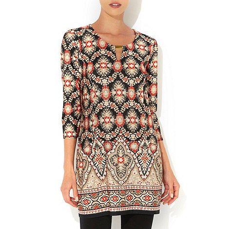 Wallis - Red floral tunic