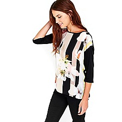 Wallis - Floral woven front tunic