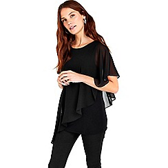 Wallis - Black asymetric top