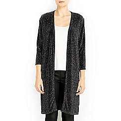 Wallis - Black sparkle split side cardigan