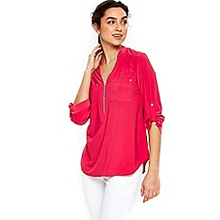 Wallis - Plain pink shirt