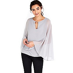 Wallis - Silver cape top