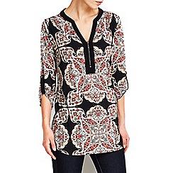 Wallis - Rust paisley print shirt
