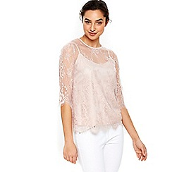 Wallis - Pink lace top